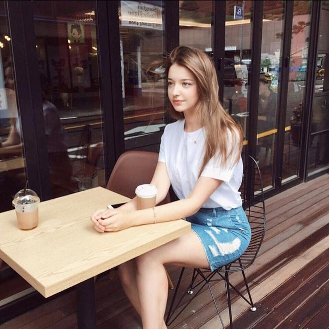 Hot girl Nga theo phong cach Han Quoc noi tieng mang hinh anh 8