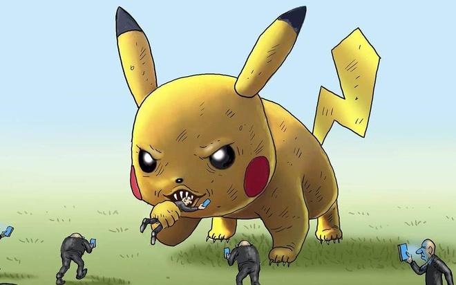 Bo tranh: The gioi hon loan vi Pokemon Go hinh anh