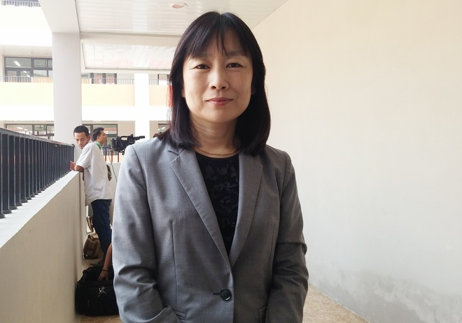 Hoc sinh Chu Van An trong gio tieng Nhat dau tien hinh anh 1