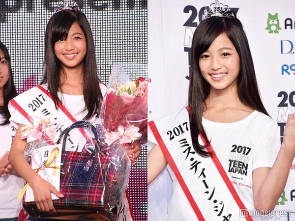 Nhan sac co gai 12 tuoi len ngoi Miss Teen Nhat Ban hinh anh 1