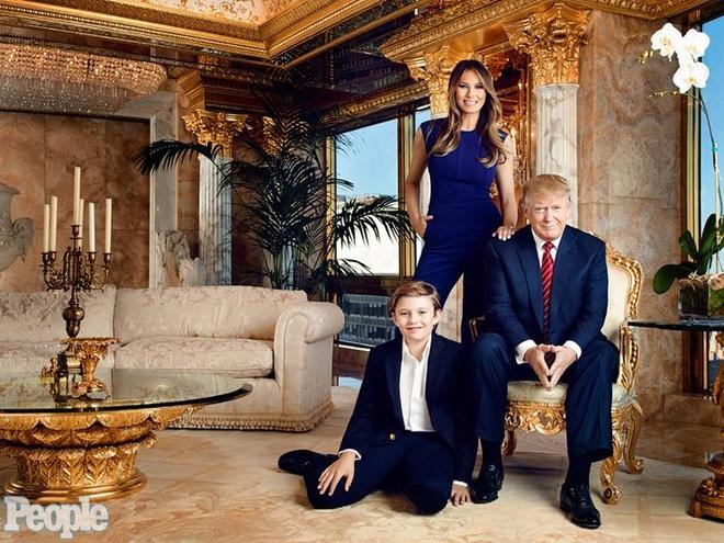 'Tieu Donald Trump' 10 tuoi chi thich mac comple, deo ca vat hinh anh 2