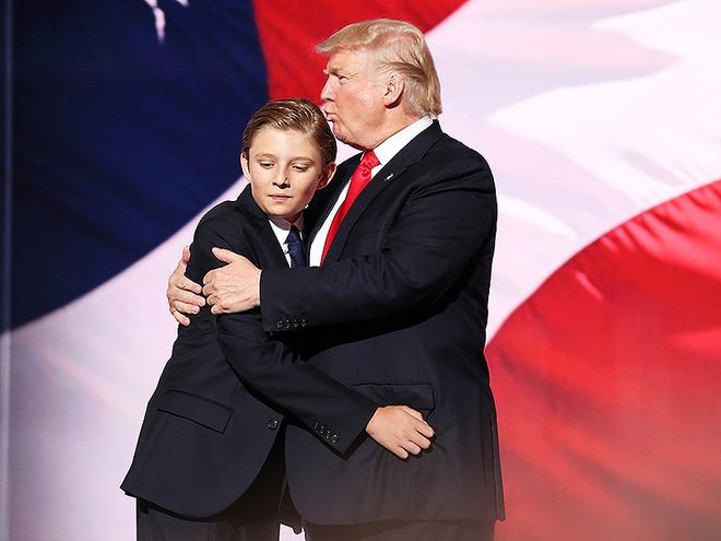 'Tieu Donald Trump' 10 tuoi chi thich mac comple, deo ca vat hinh anh 3