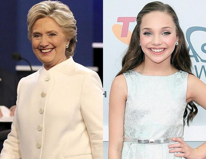 Co gai co guong mat giong het Hillary Clinton hoi tre hinh anh 2
