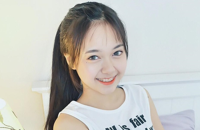 'Hot girl nieng rang' Thai Lan hut hang trieu fan tren mang hinh anh