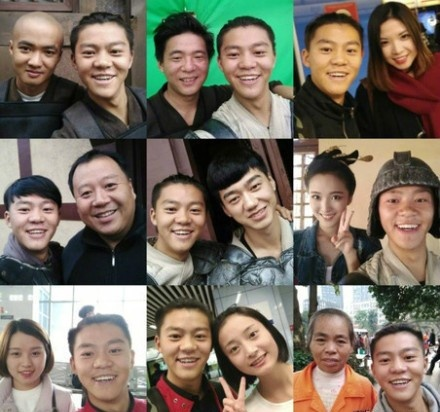 chang trai selfie cung nguoi lai anh 1