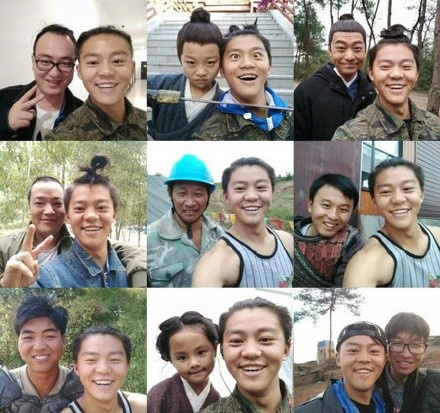 chang trai selfie cung nguoi lai anh 4