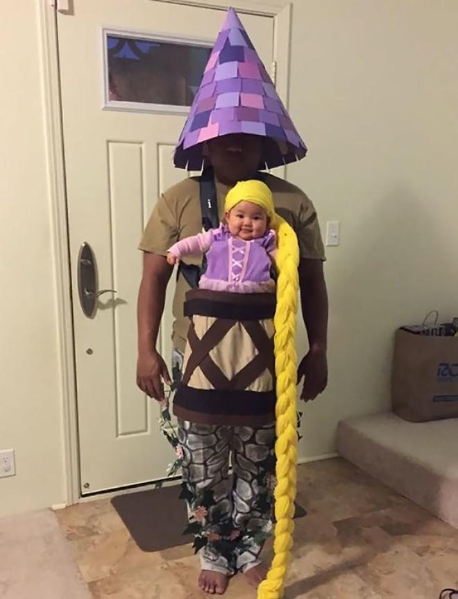 Loat trang phuc doc la mua Halloween cua cha me va be hinh anh 3
