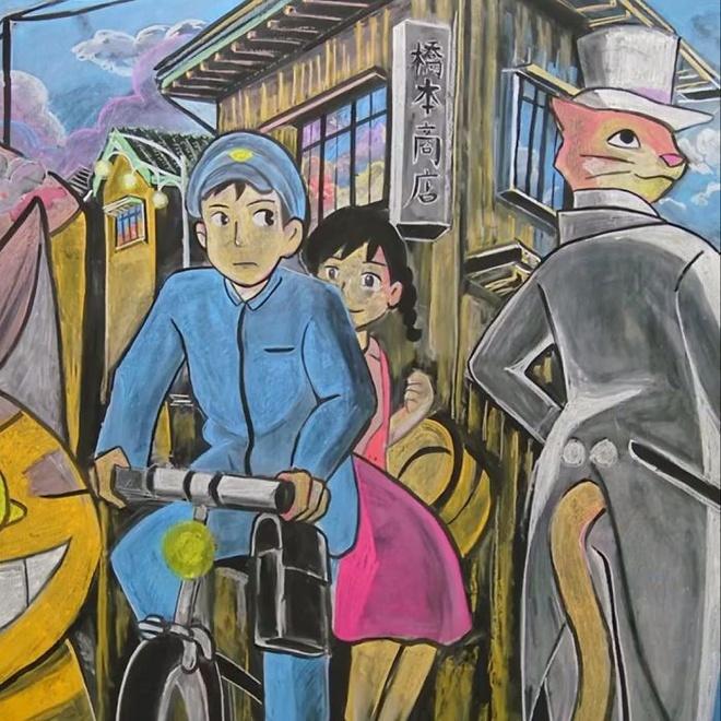 Nhom hoc sinh Hong Kong ve tranh tren bang dep den tung chi tiet hinh anh 6