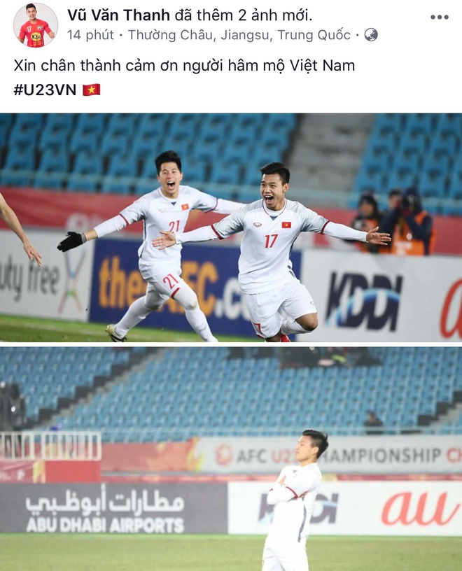 Cau thu U23 Viet Nam xin loi nguoi ham mo tren Facebook hinh anh 3