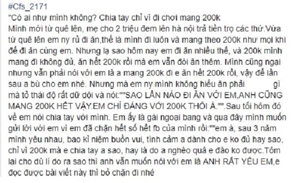 Nam sinh bi 'da' vi lan nao hen ho cung chi mang 200.000 dong