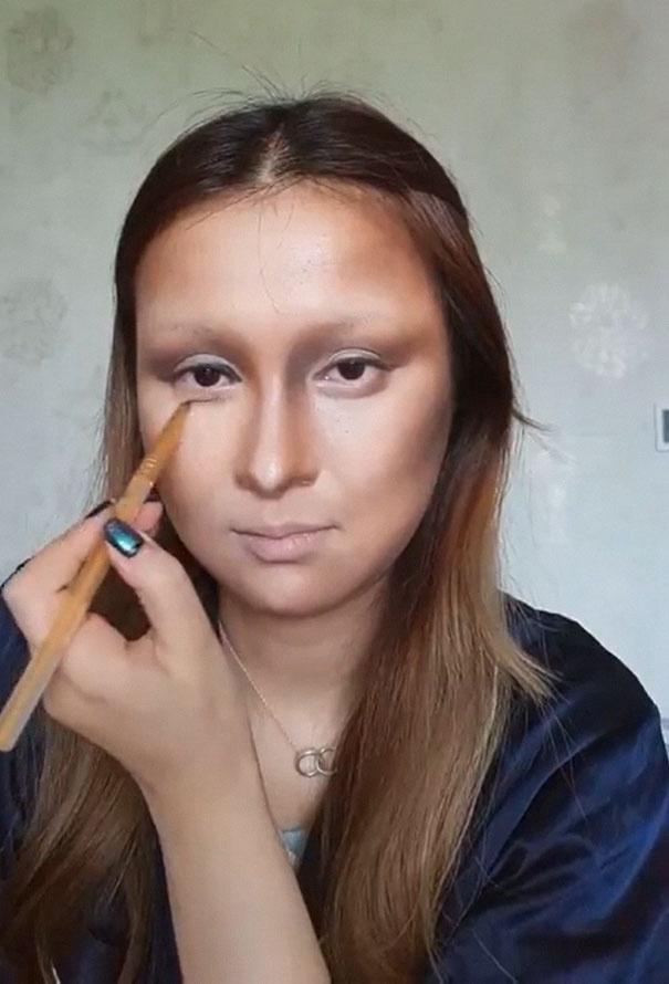 Man hoa trang thanh nang Mona Lisa gay soc cua 9X Trung Quoc hinh anh 5
