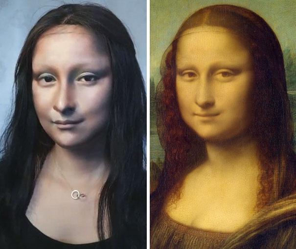 Man hoa trang thanh nang Mona Lisa gay soc cua 9X Trung Quoc hinh anh 6