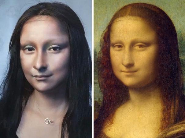 Man hoa trang thanh nang Mona Lisa gay soc cua 9X Trung Quoc hinh anh