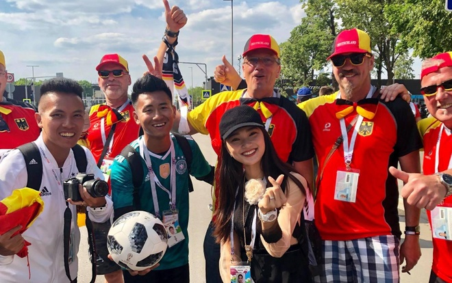 A khoi Ngoc Nu rang ro sang Nga xem World Cup, co vu doi Brazil hinh anh