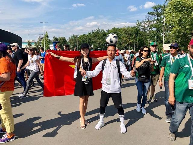 A khoi Ngoc Nu rang ro sang Nga xem World Cup, co vu doi Brazil hinh anh 3