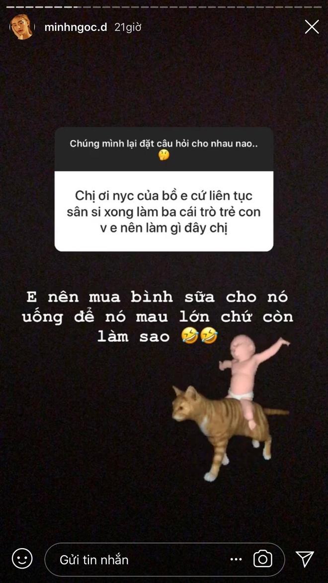 hot girl Minh Ngoc tra loi fan tren instagram anh 5