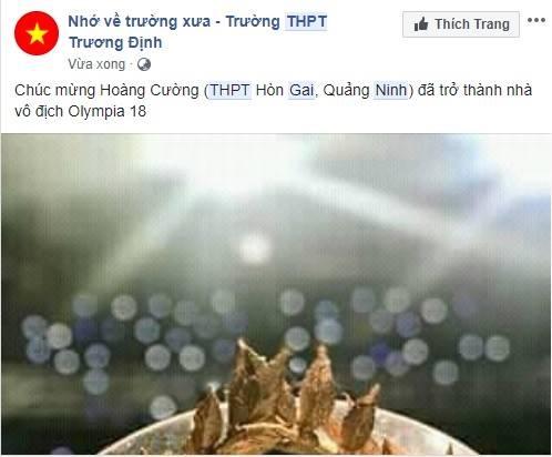 Dan mang chuc mung Hoang Cuong vo dich Olympia nam 18 hinh anh 6
