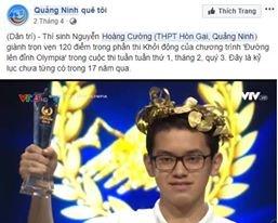 Dan mang chuc mung Hoang Cuong vo dich Olympia nam 18 hinh anh 1