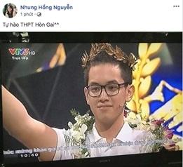 Dan mang chuc mung Hoang Cuong vo dich Olympia nam 18 hinh anh 4