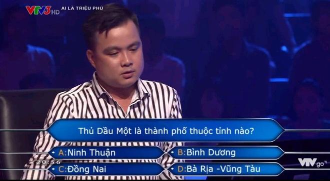 Nguoi choi 'Ai la trieu phu' khong biet Thu Dau Mot nam o tinh nao hinh anh 1