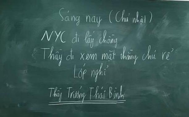Thay giao Thai Binh cho hoc sinh nghi de di dam cuoi nguoi yeu cu? hinh anh