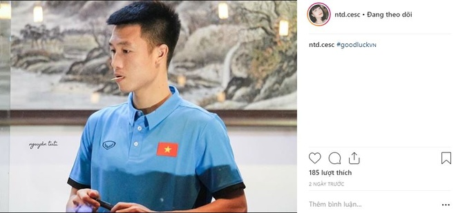 Ban gai Tien Dung, Huy Hung gui loi chuc toi doi VN truoc tran gap Lao hinh anh 5