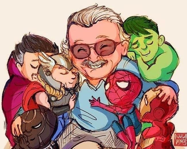 Hoa si khap the gioi ve tranh tuong nho 'ong trum Marvel' Stan Lee hinh anh