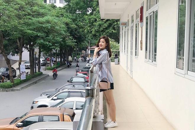 Vẻ xinh xắn của 9X quê Hưng Yên. Ảnh:FBNV.