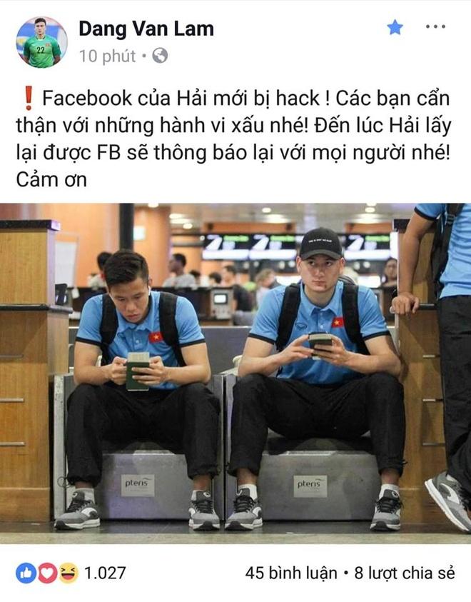 Cau thu Que Ngoc Hai bi hack Facebook? hinh anh 1