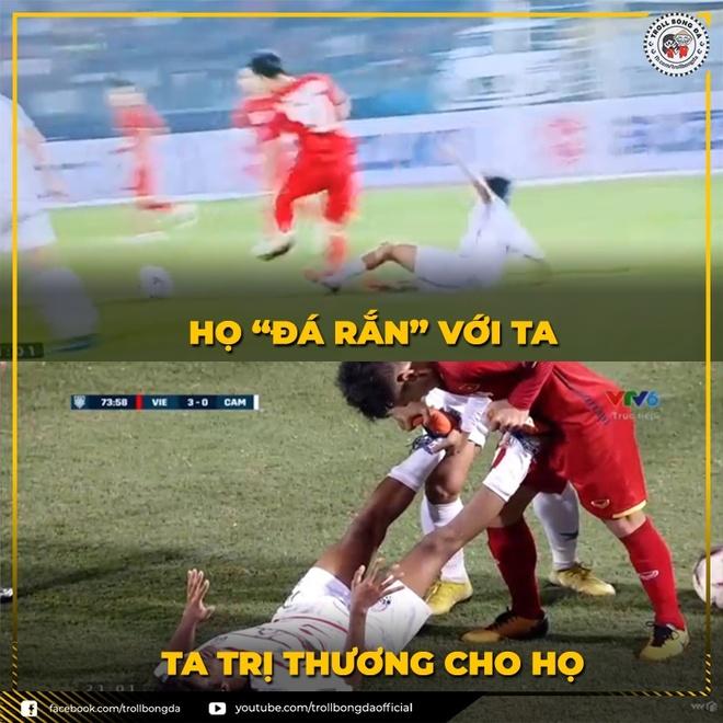 Anh che Lam Tay tiep tuc 'nhan roi' trong tran gap Campuchia hinh anh 7