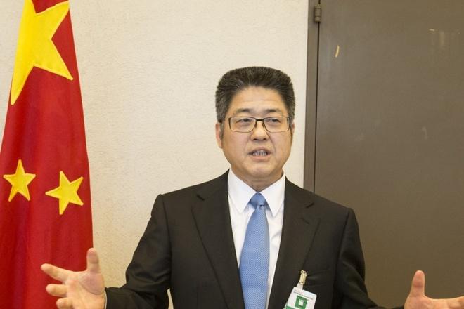 Trung Quoc trieu tap dai su Canada ve vu bat giu CFO Huawei hinh anh