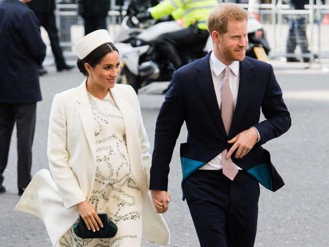 Hoàng tử Harry và vợ Meghan Markle hồi tháng 3/2019. Ảnh: Getty.