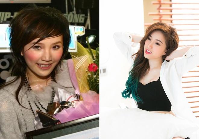 Nhan sac Ngoc Trinh, Ha Ho, Dong Nhi thay doi the nao sau 10 nam hinh anh 3