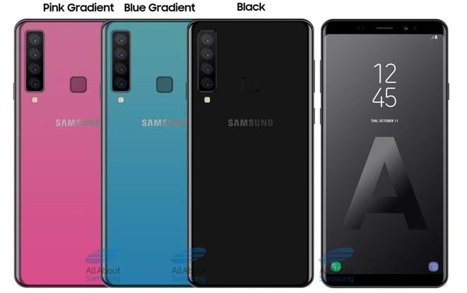 HOT: Samsung Galaxy A9 với 4 camera sau sắp lên kệ