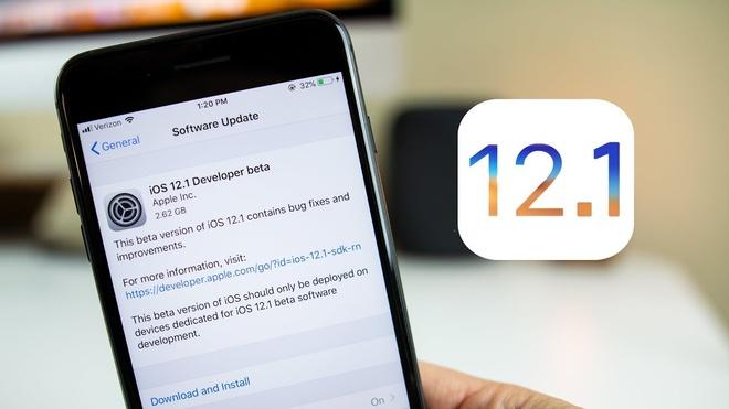Da co the tai iOS 12.1 - kich hoat eSIM, goi FaceTime nhom hinh anh