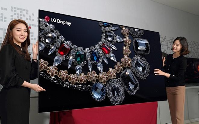 Mẫu TV 8K của LG có kích thước tới 88 inch, sử dụng công nghệ hiển thị OLED.