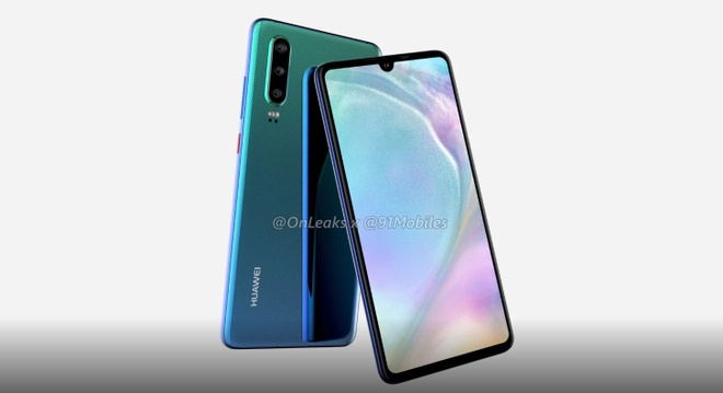 Huawei P30 lo dien - 3 camera, man hinh giot nuoc hinh anh 1