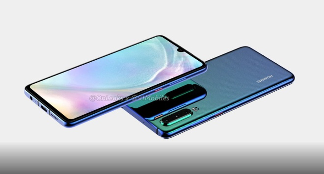 Huawei P30 lo dien - 3 camera, man hinh giot nuoc hinh anh 2