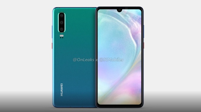 Huawei P30 lo dien - 3 camera, man hinh giot nuoc hinh anh 3