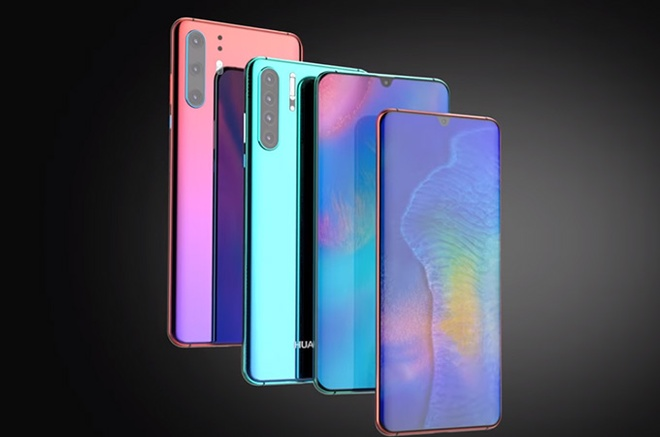 Huawei P30 lo dien - 3 camera, man hinh giot nuoc hinh anh