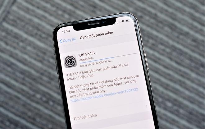 Da co the tai ban cap nhat iOS 12.1.3 cho iPhone, iPad hinh anh