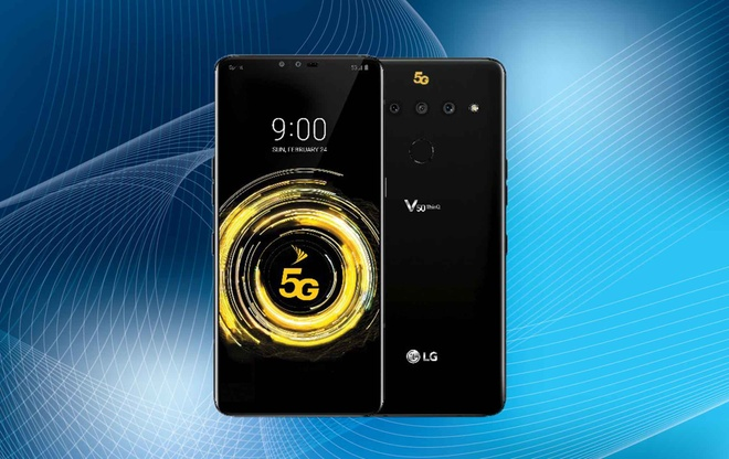 Smartphone 5G dau tien cua LG xuat hien hinh anh