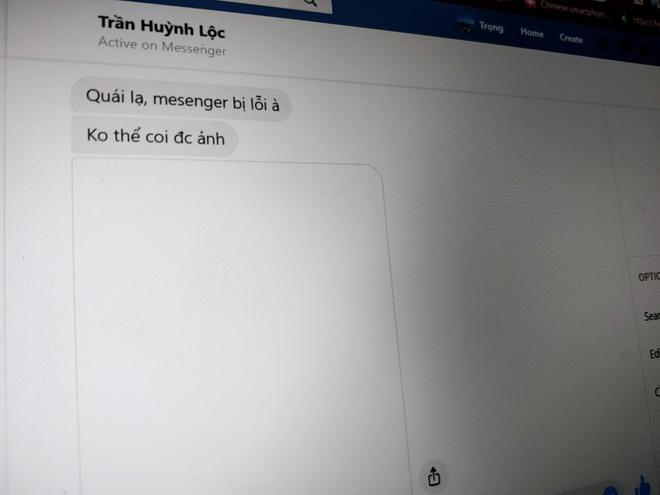 Messenger, Facebook khong tai duoc anh, nguoi dung Viet Nam buc xuc hinh anh 1