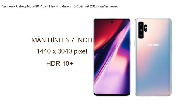 Gia website Samsung ban Galaxy Note10+ anh 2