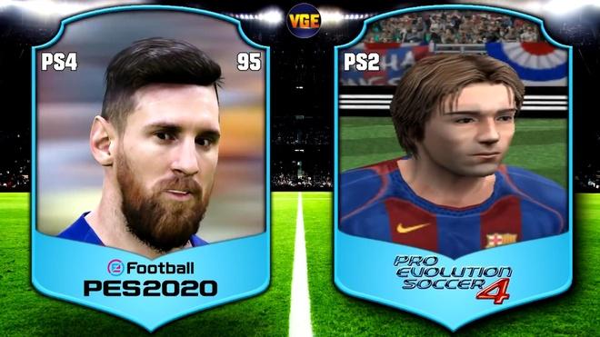 Guong mat cua Messi trong PES qua cac nam hinh anh