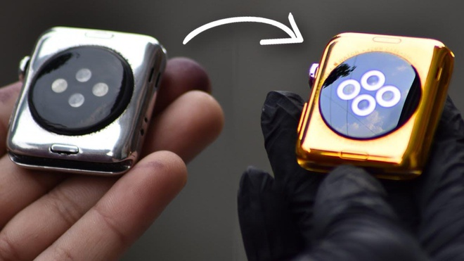 Cach bien Apple Watch ban thep thanh vang 24K hinh anh