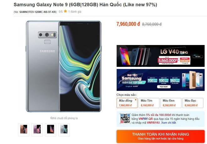 Galaxy Note9 giam gia tai Viet Nam anh 1