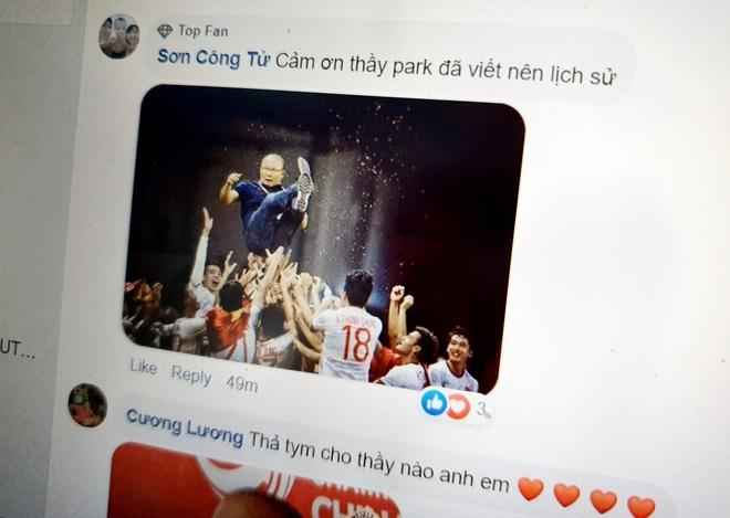 Cong dong mang cam on HLV Park vi viet nen lich su bong da Viet Nam hinh anh 1