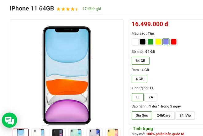 iPhone 11 xach tay tiep tuc giam gia tai Viet Nam hinh anh 1 Screenshot_16.jpg