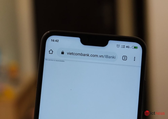 Cuoi nam, website Internet Banking cua Vietcombank khong truy cap duoc hinh anh 1 ictnews_.jpg